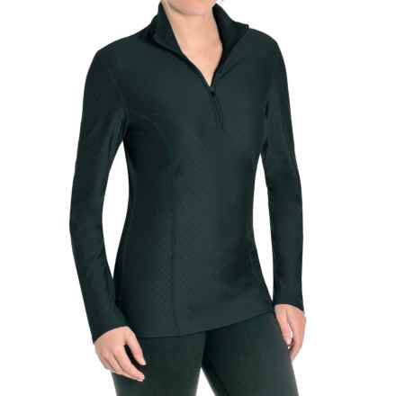 Snow Angel Doeskin Diamond Essential Base Layer Top - Zip Neck, Long Sleeve (For Women) in Black - Closeouts
