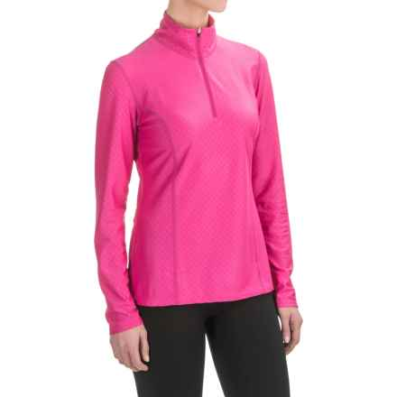 Snow Angel Doeskin Diamond Essential Base Layer Top - Zip Neck, Long Sleeve (For Women) in Hibiscus - Closeouts