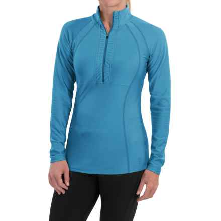 Snow Angel Doeskin Midweight Base Layer Top - Zip Neck, Long Sleeve (For Women) in Azul - Closeouts