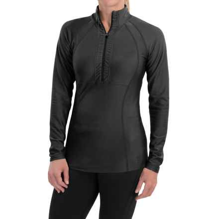 Snow Angel Doeskin Midweight Base Layer Top - Zip Neck, Long Sleeve (For Women) in Black - Closeouts