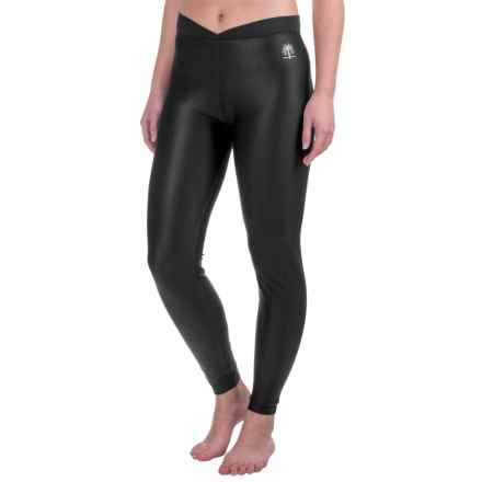 Snow Angel Doeskin V-Waist Base Layer Leggings (For Women) in Black - Closeouts