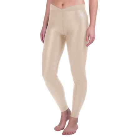 Snow Angel Doeskin V-Waist Base Layer Leggings (For Women) in Ivory - Closeouts