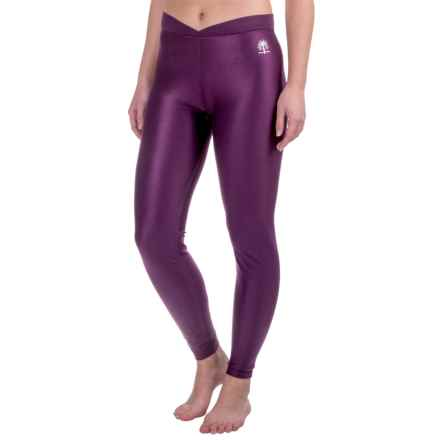 Snow Angel Doeskin V-Waist Base Layer Leggings (For Women) in Plum - Closeouts