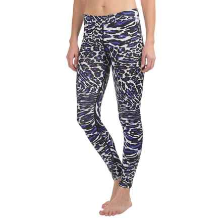 Snow Angel Flatter Fit Post-Modern Prints Leggings (For Women) in Blue Leopard - Closeouts
