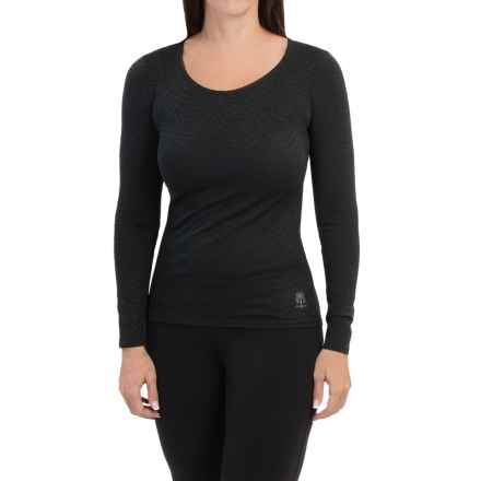 Snow Angel Luxe Lace Shirt - Scoop Neck, Long Sleeve (For Women) in Black - Closeouts