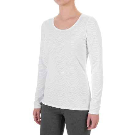 Snow Angel Luxe Lace Shirt - Scoop Neck, Long Sleeve (For Women) in White - Closeouts