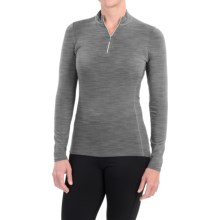 Snow Angel Luxury Angel Cashmere Shirt - Zip Neck, Long Sleeve (For Women) in Slate - Closeouts