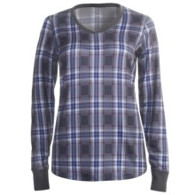 Snow Angel Posh Plaid Base Layer Top - V-Neck, Long Sleeve (For Women) in Plaid - Closeouts