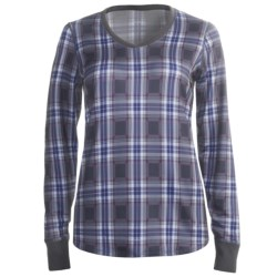 Snow Angel Posh Plaid Base Layer Top - V-Neck, Long Sleeve (For Women) in Plaid