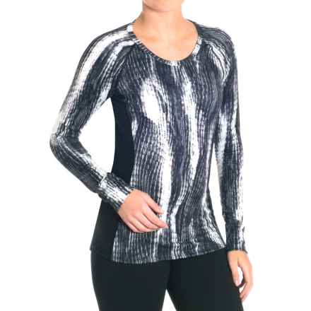 Snow Angel Post Modern Print Slimline Base Layer Top - Long Sleeve (For Women) in Lynx - Closeouts