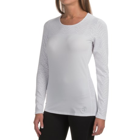 Snow Angel Sweetheart Base Layer Top - Scoop Neck, Long Sleeve (For Women) in White