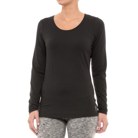 Snow Angel Veluxe Classic Base Layer Top - Scoop Neck, Long Sleeve (For Women) in Black