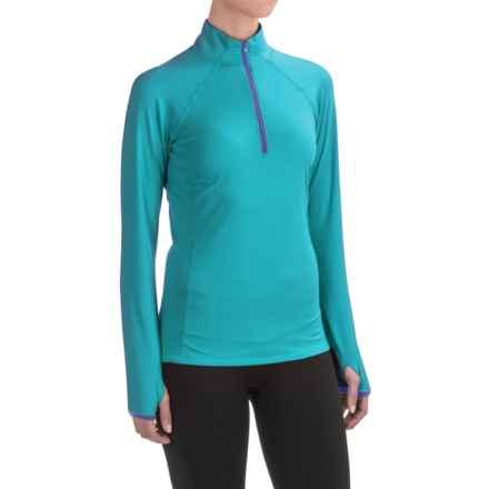 Snow Angel Veluxe Color Splash Base Layer Top - Zip Neck, Long Sleeve (For Women) in Viridan - Closeouts