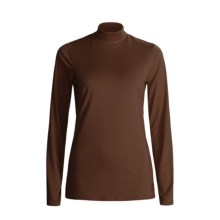 Snow Angel Veluxe Damask Base Layer Turtleneck - Long Sleeve (For Women) in Espresso - Closeouts