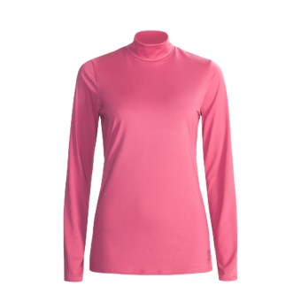 Snow Angel Veluxe Damask Base Layer Turtleneck - Long Sleeve (For Women) in Strawberry