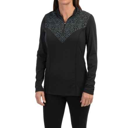 Snow Angel Veluxe Graphic Base Layer Top - Zip Neck, Long Sleeve (For Women) in Black - Closeouts