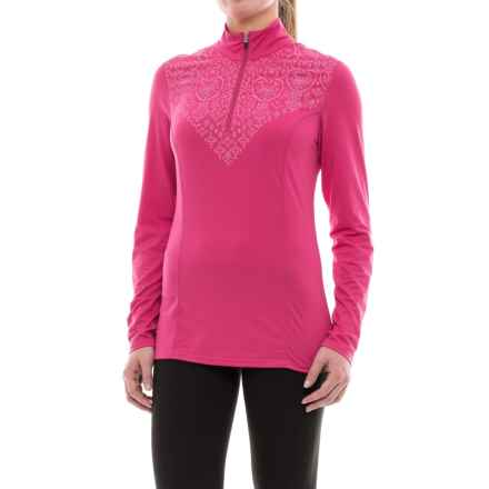 Snow Angel Veluxe Graphic Base Layer Top - Zip Neck, Long Sleeve (For Women) in Hopi - Closeouts