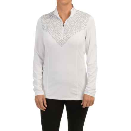 Snow Angel Veluxe Graphic Base Layer Top - Zip Neck, Long Sleeve (For Women) in White - Closeouts