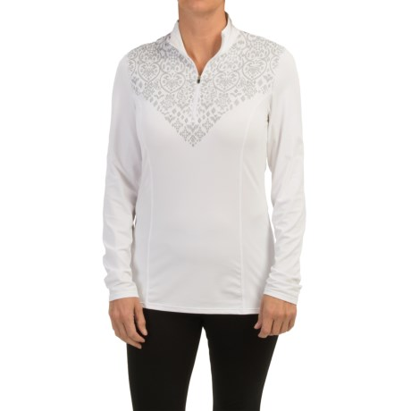 Snow Angel Veluxe Graphic Base Layer Top - Zip Neck, Long Sleeve (For Women)
