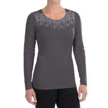 Snow Angel Veluxe Graphic Shirt - Scoop Neck, Long Sleeve (For Women) in Charcoal - Closeouts
