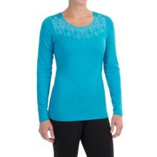 Snow Angel Veluxe Graphic Shirt - Scoop Neck, Long Sleeve (For Women) in Turquoise - Closeouts