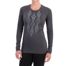 Snow Angel Veluxe Ikat Shirt - Long Sleeve (For Women) in Charcoal - Closeouts