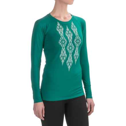 Snow Angel Veluxe Ikat Shirt - Long Sleeve (For Women) in Teal Green - Closeouts