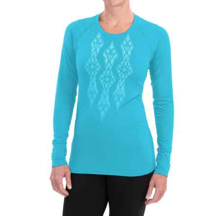 Snow Angel Veluxe Ikat Shirt - Long Sleeve (For Women) in Turquoise - Closeouts