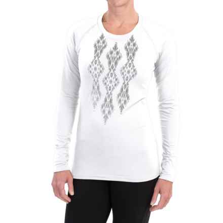 Snow Angel Veluxe Ikat Shirt - Long Sleeve (For Women) in White - Closeouts