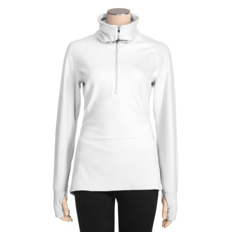 Snow Angel Vixen Velour Base Layer Top - Zip Neck, Long Sleeve (For Women) in White