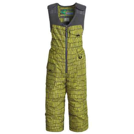 Snow Dragon Nestor Snow Bibs - Waterproof, Insulated (For Little Boys) in Avocado Helio Print - Closeouts