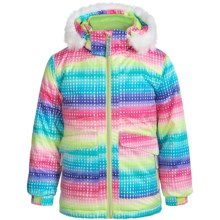 Snow Dragon Nova Ski Jacket (For Little Girls) in Pixie Print - Closeouts