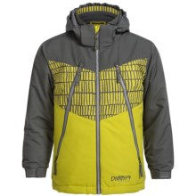 Snow Dragon Pluto Ski Jacket (For Little Boys) in Gray/Avocado Helio/Avocado - Closeouts
