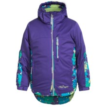Snow Dragon Solstice Ski Jacket (For Little Girls) in Purplelicious/Sweet Pea - Closeouts