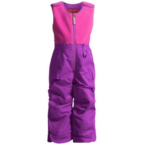 Snow Dragons Bailey Snow Bib Overalls - Insulated (For Little Girls) in Grape Sparkle