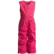 Snow Dragons Bailey Snow Bib Overalls - Insulated (For Little Girls) in Pink Flamingo - Closeouts