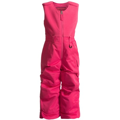 Snow Dragons Bailey Snow Bib Overalls - Insulated (For Little Girls) in Pink Flamingo
