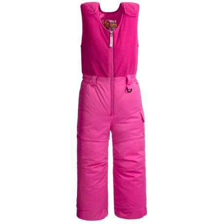 Snow Dragons Bailey Snow Bib Overalls - Insulated (For Little Girls) in Pink Raspberry/Pink Raspberry