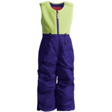 Snow Dragons Bailey Snow Bib Overalls - Insulated (For Little Girls) in Purplolicious - Closeouts