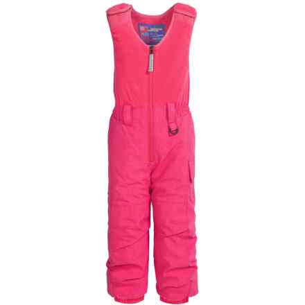 Snow Dragons Bailey Snow Bibs - Waterproof, Insulated (For Toddlers and Little Girls) in Pink Diva - Closeouts
