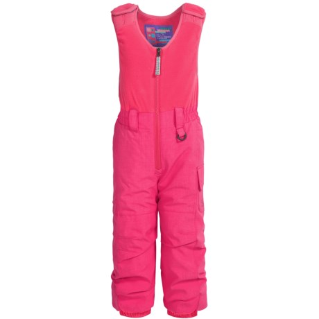 Snow Dragons Bailey Snow Bibs - Waterproof, Insulated (For Toddlers and Little Girls) in Pink Diva