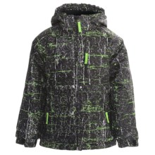 Snow Dragons Bonk Jacket - Insulated (For Little Boys) in Cool Thrasher/Black/Black - Closeouts