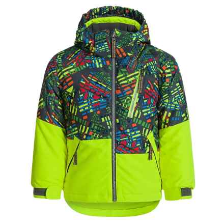Snow Dragons Dialed Jacket - Waterproof, Insulated (For Toddlers and Little Boys) in Bizarro Print/Electric Yellow - Closeouts