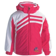 Snow Dragons Hand Spring Jacket - Insulated (For Little Girls) in Pink Dazzle/White - Closeouts