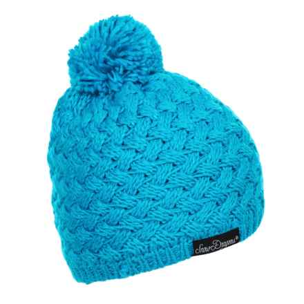 Snow Dragons Hugger Beanie - Fleece Lined (For Toddlers and Little Girls) in Diva Blue - Closeouts