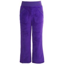 Snow Dragons Jasmine Cozy Fleece Pants (For Little Girls) in Purple Berry/Purple Berry - Closeouts