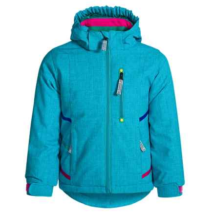 Snow Dragons Jazzy Jacket - Waterproof, Insulated (For Toddlers and Little Girls) in Diva Blue - Closeouts