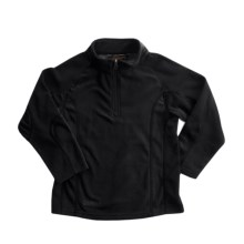 Snow Dragons Mason Microfleece Jacket - Zip Neck (For Little Boys) in Black/Black - Closeouts
