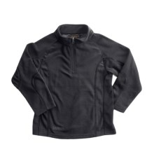 Snow Dragons Mason Microfleece Jacket - Zip Neck (For Little Boys) in Black - Closeouts