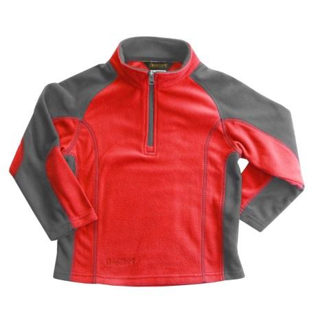 Snow Dragons Mason Microfleece Jacket - Zip Neck (For Little Boys) in Red Fury/Gray Shadow